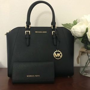 Michael kors large Ciara satchel Wallet set